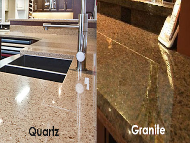 Kitchen quartz vs granite furniture best quartz vs for Silestone vs granite