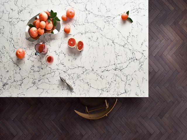 Caesarstone White Attica Kitchen Quartz Countertops