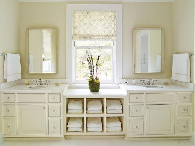 Beautiful China Custom Modern Cream Bathroom Vanities Without Countertop OP13