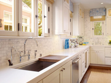Caesarstone Organic White Kitchen Quartz Countertops