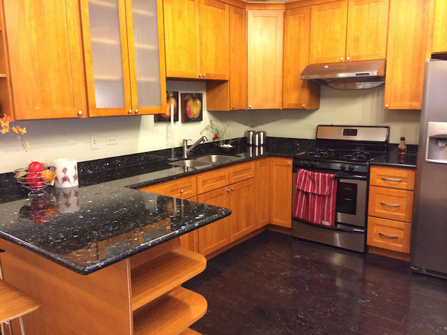 Emerald Pearl Granite Kitchen Countertops Design Ideas