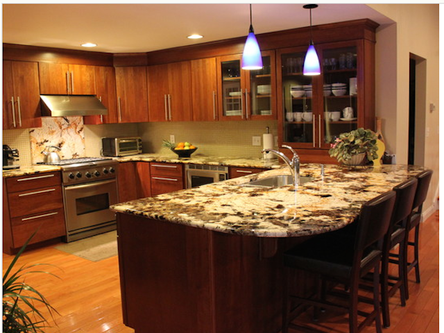 Splendor Gold Granite Countertop Kitchen Design Ideas