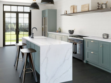 Eternal Calacatta Gold Silestone Quartz Kitchen Countertops